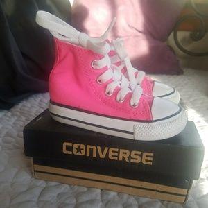 Toddler Pink Hightop Converse